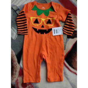 Halloween Infant Baby 12 Mo Pumpkin Costume Sleepe